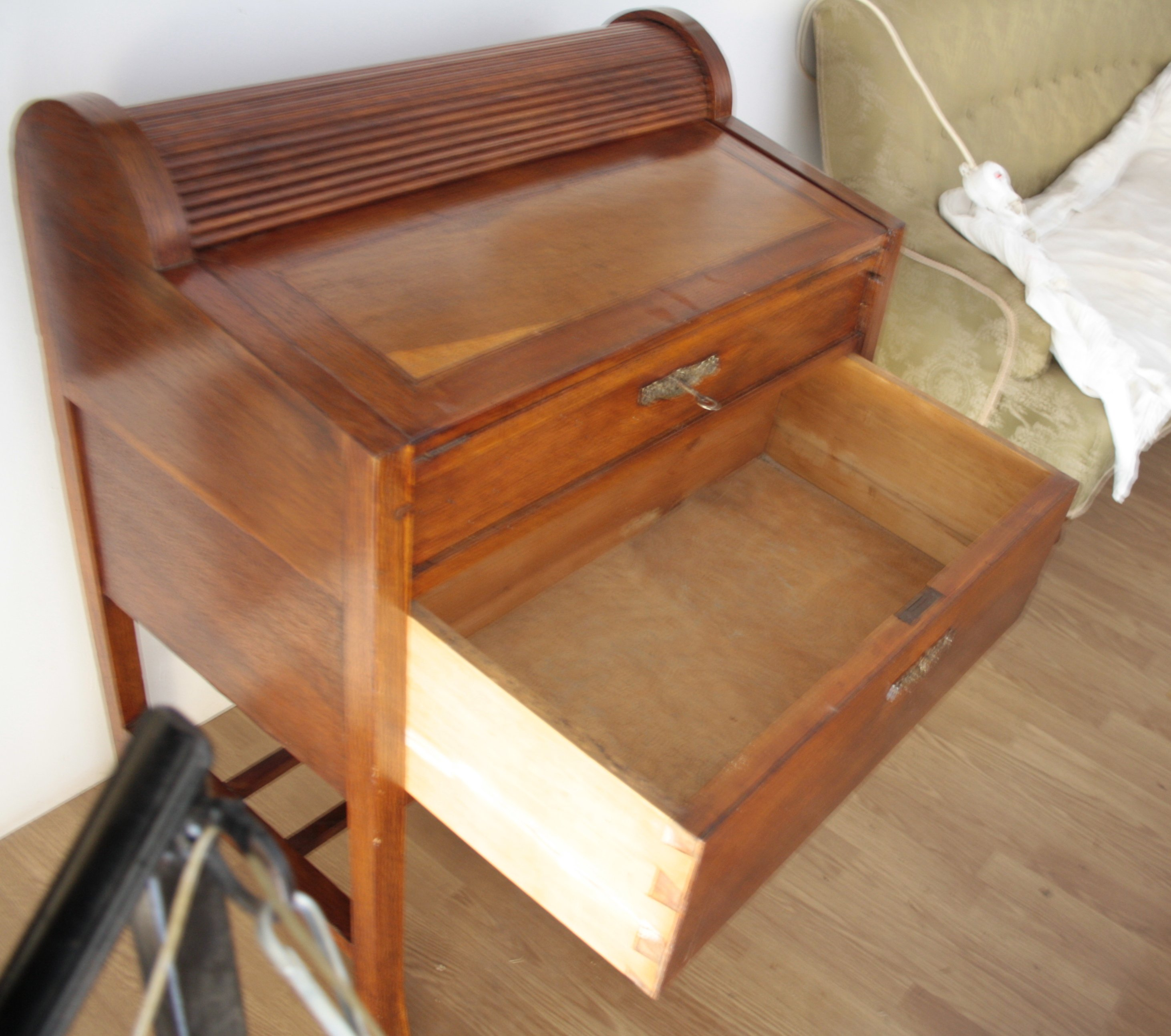 Writing flap cedar wood Art Nouveau