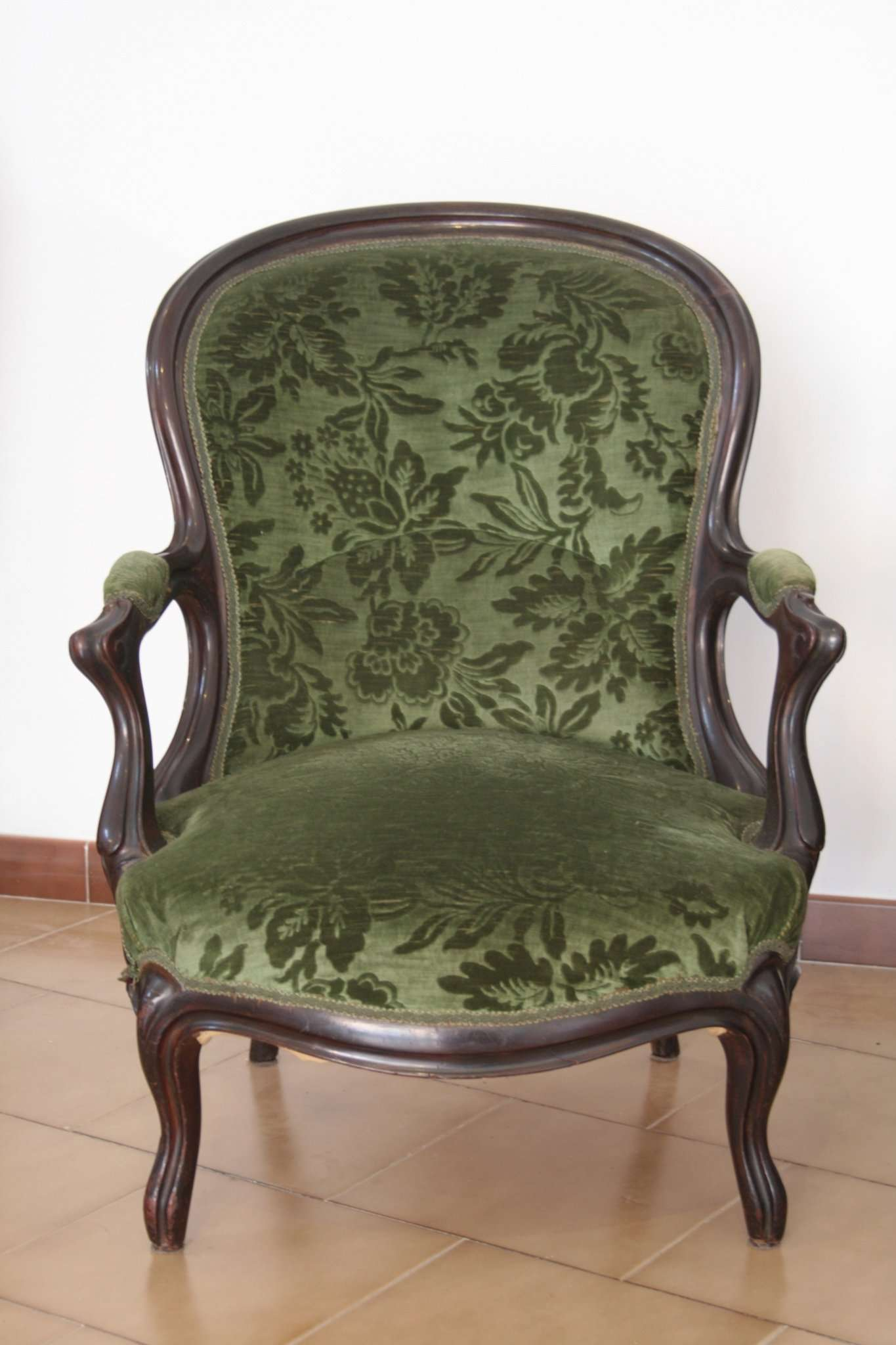 Salottino luigi filippo francese divano e due poltrone for Divano in francese