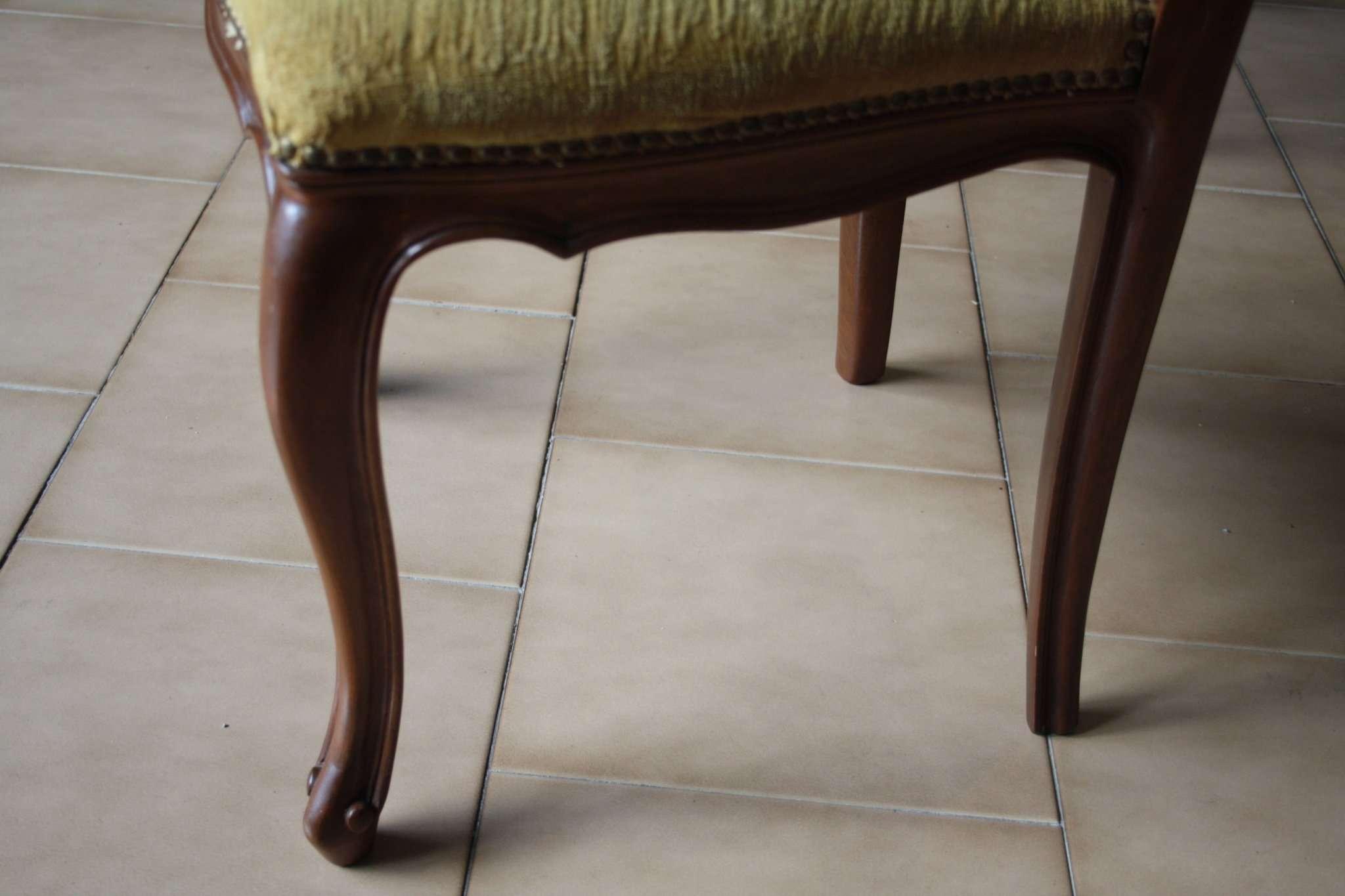 Sei sedie legno massello noce - RestauriRaia.com conservazione e ...